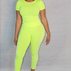 Neon Athletic Two piece Set  🎾